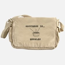 Happiness is Noodles Messenger Bag
