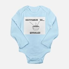 Happiness is Noodles Long Sleeve Infant Bodysuit