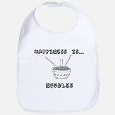 Happiness is Noodles Bib