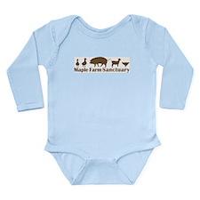 Animal Friends Long Sleeve Infant Bodysuit