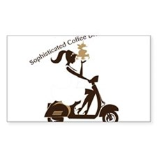 Sophisticated Coffee Drinker Decal
