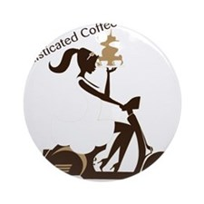 Sophisticated Coffee Drinker Ornament (Round)