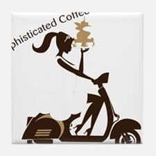 Sophisticated Coffee Drinker Tile Coaster