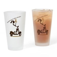 Sophisticated Coffee Drinker Drinking Glass
