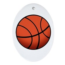 Basketball (6) Ornament (Oval)
