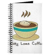 Kitty Loves Coffee (w & w/o t Journal