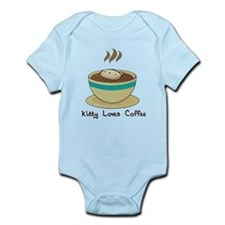 Kitty Loves Coffee (w & w/o t Infant Bodysuit