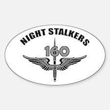 Night Stalkers TF-160 Sticker (Oval)