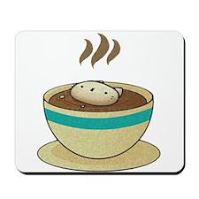 Kitty Loves Coffee (w & w/o t Mousepad