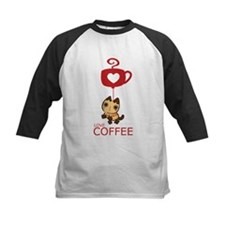 Crazy Cat Loves Coffee Tee