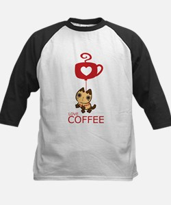 Crazy Cat Loves Coffee Tee