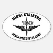 Night Stalkers TF-160 Sticker (Oval)