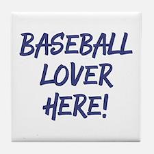 Baseball Lover Tile Coaster