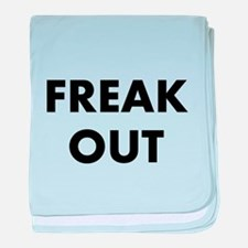 Freak Out baby blanket