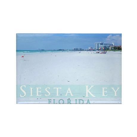 Siesta Key Beach Rectangle Magnet