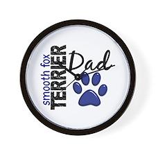 Smooth Fox Terrier Dad 2 Wall Clock