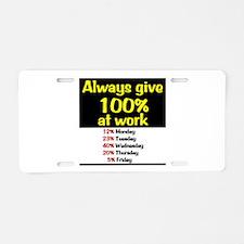 100% Aluminum License Plate