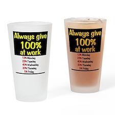 100% Drinking Glass