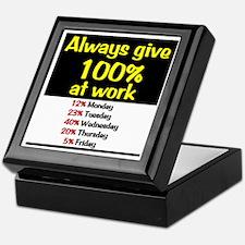 100% Keepsake Box
