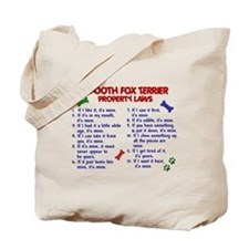 Smooth Fox Terrier Property Laws 2 Tote Bag