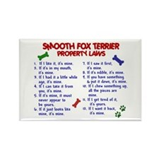 Smooth Fox Terrier Property Laws 2 Rectangle Magne