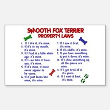 Smooth Fox Terrier Property Laws 2 Decal