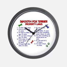 Smooth Fox Terrier Property Laws 2 Wall Clock