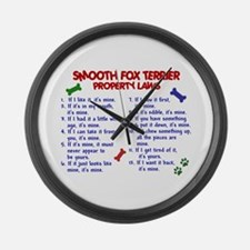 Smooth Fox Terrier Property Laws 2 Large Wall Cloc