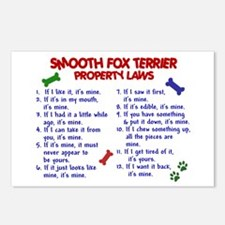 Smooth Fox Terrier Property Laws 2 Postcards (Pack