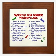 Smooth Fox Terrier Property Laws 2 Framed Tile