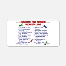 Smooth Fox Terrier Property Laws 2 Aluminum Licens