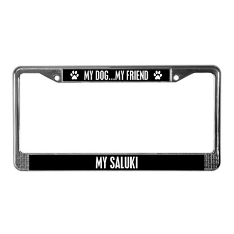 Saluki License Plate Frame