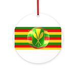 Old Hawaiian Flag Design Ornament (Round)