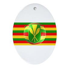 Old Hawaiian Flag Design Ornament (Oval)