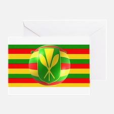 Old Hawaiian Flag Design Greeting Card