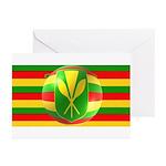 Old Hawaiian Flag Design Greeting Cards (Pk of 10)
