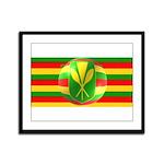 Old Hawaiian Flag Design Framed Panel Print