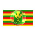 Old Hawaiian Flag Design 38.5 x 24.5 Wall Peel