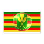 Old Hawaiian Flag Design 22x14 Wall Peel