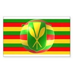 Old Hawaiian Flag Design Sticker (Rectangle 50 pk)