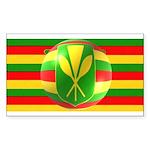 Old Hawaiian Flag Design Sticker (Rectangle 10 pk)