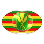 Old Hawaiian Flag Design Sticker (Oval 50 pk)