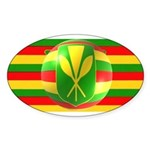 Old Hawaiian Flag Design Sticker (Oval)