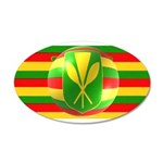 Old Hawaiian Flag Design 38.5 x 24.5 Oval Wall Pee