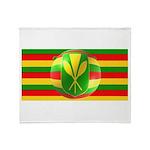 Old Hawaiian Flag Design Throw Blanket