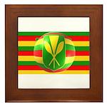 Old Hawaiian Flag Design Framed Tile