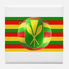 Old Hawaiian Flag Design Tile Coaster