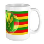 Old Hawaiian Flag Design Large Mug