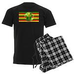 Old Hawaiian Flag Design Men's Dark Pajamas