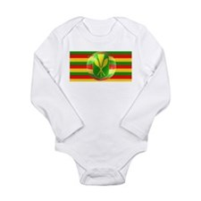 Old Hawaiian Flag Design Long Sleeve Infant Bodysu